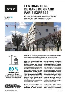 Couverture - Les quartiers de gare du Grand Paris Express - Et si la mutation se jouait en dehors des opérations d'aménagement? © Apur