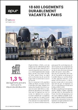 Couverture - 18600 logements durablement vacants à Paris © Apur