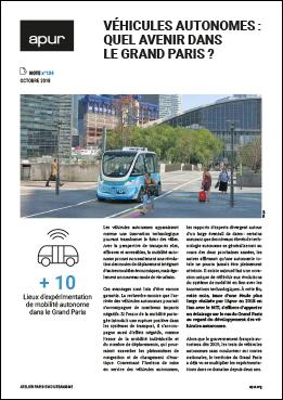 Couverture de la note Véhicules autonomes : quel avenir dans le Grand Paris ?