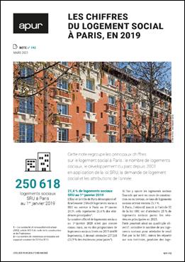 Couverture - Les derniers chiffres du logement social à Paris © Apur