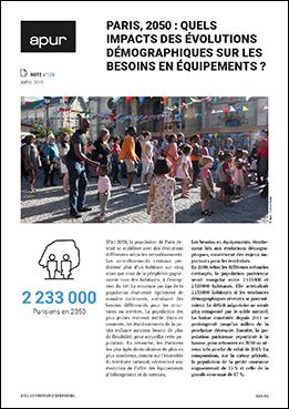 Couverture - Note n°126 : Paris, 2050 : quels impacts des évolutions démographiques sur les besoins en équipements ?