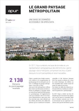 Note 127 - Le grand paysage métropolitain - Couverture