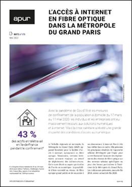 Couverture - L'accès à internet en fibre optique dans la Métropole du Grand Paris © Apur