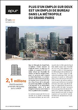 Couverture - Plus d'un emploi sur deux est un emploi de bureau dans la Métropole du Grand Paris © Apur