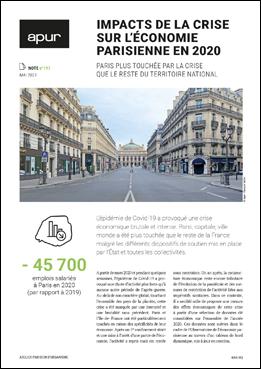 Couverture - Impacts de la crise sur l'économie parisienne en 2020 © Apur - F. Mort