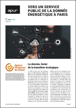 Couverture - Vers un service public de la donnée énergétique à Paris © Apur