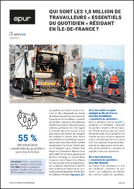 Couverture - Qui sont les 1,8 million de travailleurs « essentiels du quotidien » résidant en Île-de-France © Apur