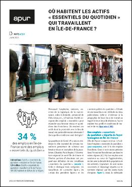 Couverture - Où habitent les actifs « essentiels du quotidien » qui travaillent en Île-de-France ? © Apur
