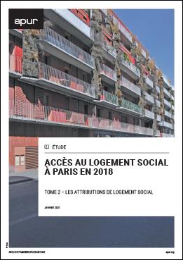 Couverture - Accès au logement social à Paris en 2018 - Tome 2, les attributions de logement social © Apur