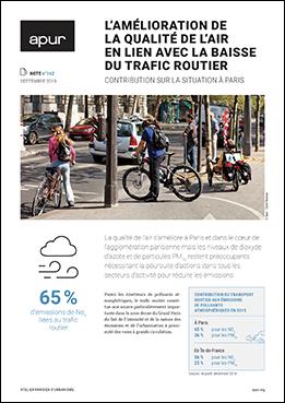 Couverture - L'amélioration de la qualité de l'air en lien avec la baisse du trafic routier - Contribution sur la situation à Paris © Apur