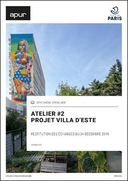 Couverture - Atelier #2 - Projet Villa d'Este © Apur
