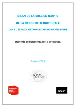 Couverture - Bilan de la mise en œuvre de la réforme territoriale dans l'espace métropolitain du Grand Paris © Apur