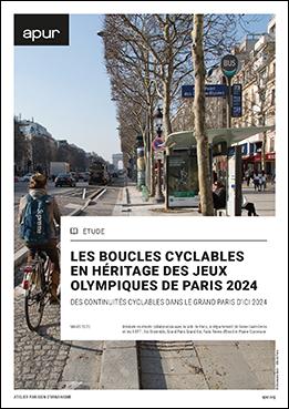 Couverture - Les Boucles cyclables en héritage des Jeux de Paris 2024 - Des continuités cyclables dans le Grand Paris en 2024 © Apur