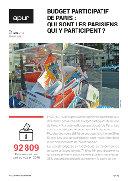 Couverture Note 123 - Budget participatif