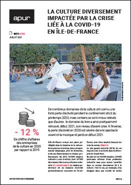 Couverture - La culture diversement impactée par la crise liée à la covid-19 en Île-de-France © Apur