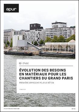 Couverture - Évolution des besoins en matériaux pour les chantiers du Grand Paris. Première approche pour les centrales à béton © Apur