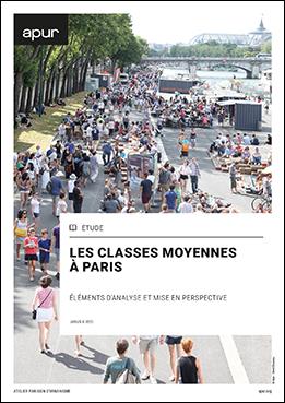 Couverture - Les classes moyennes à Paris - Eléments d'analyse et mise en perspective © Apur