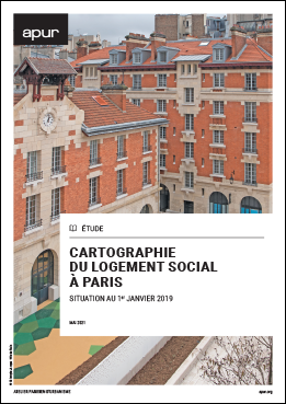 Couverture - Cartographie du logement social à Paris - situation au 1er janvier 2019 © Apur