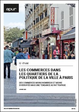 Couverture - Les commerces dans les quartiers de la politique de la ville à Paris Couverture - Les commerces dans les quartiers de la politique de la ville à Paris Couverture - Les commerces dans les quartiers de la politique de la ville à Paris © Apur