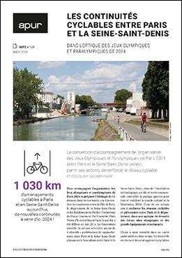 Couverture Note 124 - Les continuités cyclables entre Paris et la Seine-Saint-Denis dans l'optique des Jeux Olympiques et Paralympiques de 2024