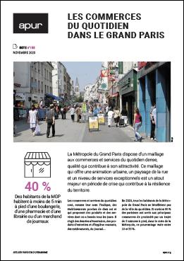 Couverture - Les commerces du quotidien dans le Grand Paris © Apur