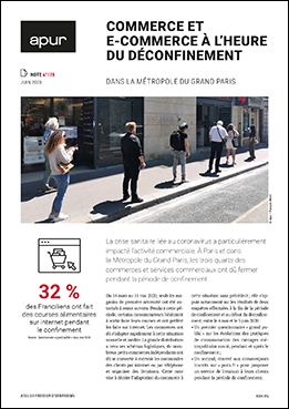 Couverture - Commerce et e-commerce à l'heure du déconfinement dans la Métropole du Grand Paris © Apur
