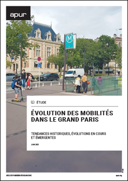 Couverture - Évolution des mobilités dans le Grand Paris - Tendances historiques, évolutions en cours et émergentes © Apur