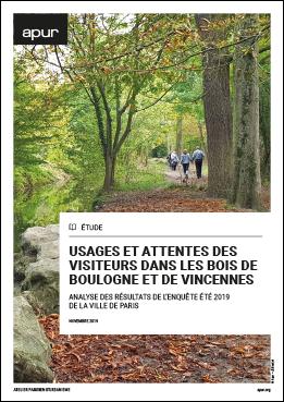Couverture - Usages et attentes des visiteurs dans les bois de Boulogne et de Vincennes © Apur