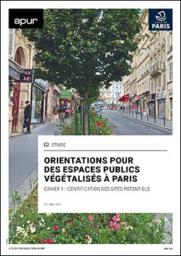 Couverture - Orientations pour des espaces publics végétalisés à Paris © Apur