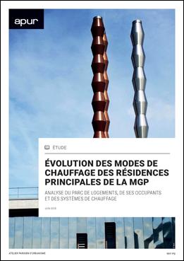 Couverture - Évolution des modes de chauffage des résidences principales de la MGP  © Apur