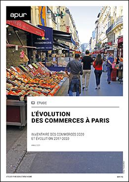 Couverture – Évolution des commerces à Paris – Inventaire des commerces 2020 et évolutions 2017-2020 © Apur