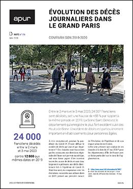 Couverture - Évolution des décès journaliers dans le Grand Paris - comparaison 2019-2020 © Apur