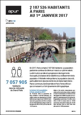 Couverture - 2 187 526 habitants à Paris au 1er janvier 2017 © Apur
