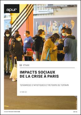 Couverture - Impacts sociaux de la crise à Paris - Tendances statistiques et retours de terrain © Apur