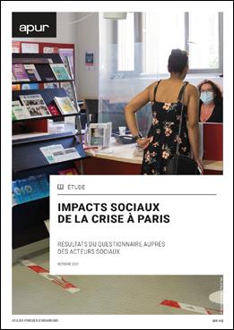 Couverture - Impacts sociaux de la crise à Paris - Résultats du questionnaire auprès des acteurs sociaux © Apur
