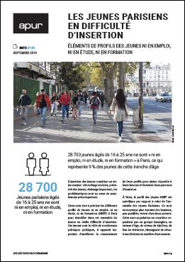 Couverture - Les jeunes Parisiens en difficulté d'insertion © Apur