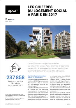 Couverture - Les chiffres du logement social à paris en 2017 © Apur