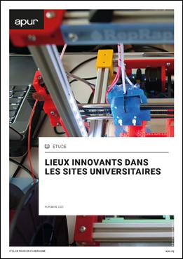 Couverture - Lieux innovants dans les sites universitaires © Apur