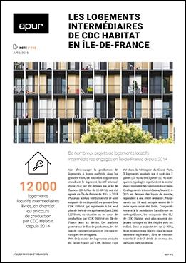 Couverture - Les logements intermédiaires de CDC Habitat en Île-de-France © Apur