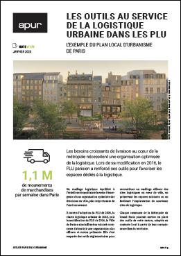 Couverture - Les outils au service de la logistique urbaine dans les PLU - L'exemple du plan local d'urbanisme de Paris © Apur