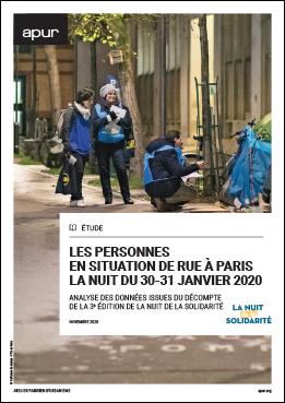 Couverture - Les personnes en situation de rue à Paris la nuit du 30-31 janvier 2020 © Apur