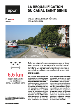 Couverture note 130 - La requalification du canal Saint-Denis © Apur