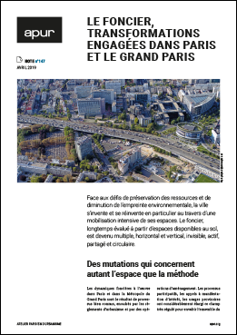 Couverture - Le foncier, transformations engagées dans Paris et le Grand Paris © Apur