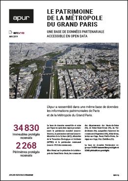 Couverture - Le patrimoine de la Métropole du Grand Paris - Une base de données partenariale accessible en Open Data © Apur