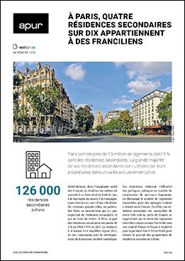 Couverture - À Paris, quatre résidences secondaires sur dix appartiennent à des Franciliens © Apur