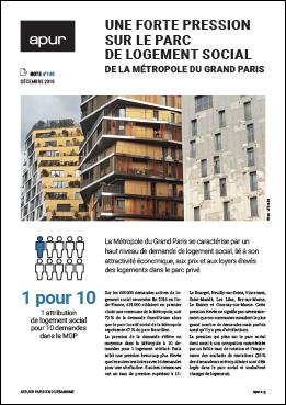 Couverture - Une forte pression sur le parc de logement social de la Métropole du Grand Paris © Apur