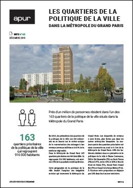 Couverture - Les quartiers de la politique de la ville dans la Métropole du Grand Paris © Apur