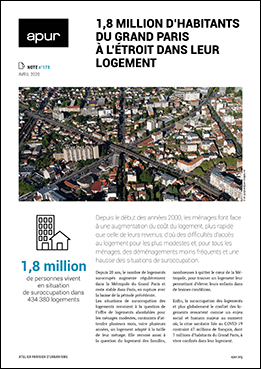 note 173 – 1,8 million d'habitants du Grand Paris à l'étroit dans leur logement – Couverture © Apur