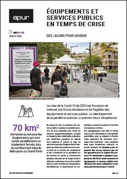 Couverture - Équipements et services publics en temps de crise - Des jalons pour l'avenir © Apur