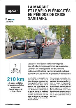 La marche et le vélo plébiscités en période de crise sanitaire – Couverture © Apur
